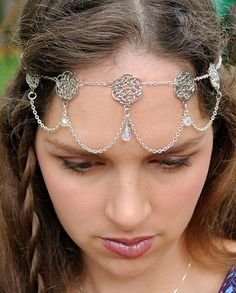 Celtic Silver and Crystal Elven Princess by MyBeadedBohemian, $20.00///// because I'm a nerd and it reminded me of lord of the rings