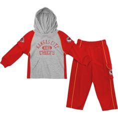 Kansas City Chiefs Toddler Red Faux Jersey Hoodie   Pant Set 8805c51c2