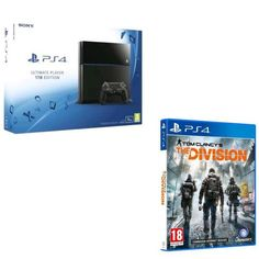 génial Console PS4 Sony 1 To Noire + Tom Clancy´s The Division PS4 chez FNAC