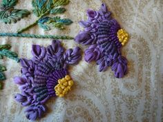 Variety of stitches to make these gorgeous flowers