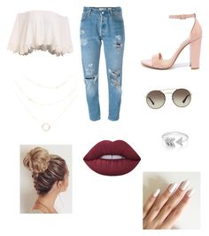 """""""Untitled #184"""" by chase-banner on Polyvore featuring Levi's, Steve Madden, Prada, EF Collection and Lime Crime"""