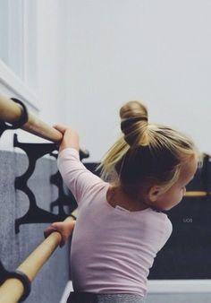 This little cutie with a cute little bun.