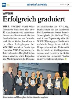 Tips Wels: KW 39, 2012: Seite 36:  Graduierungsfeier vom 12.09.2012 Wels, Country, Economics, Politics, Things To Do, Quotes