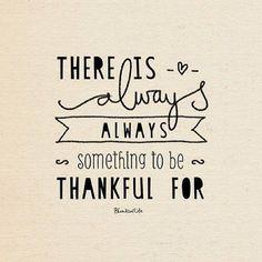 いつだって感謝するものがある