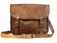 Artisan Handmade Goat Leather Messenger Bag | Discovered