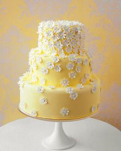Butter yellow this would be a cute birthday cake
