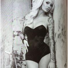 Sabrina Kelley tattoo pinup girl