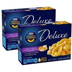 Pack) Kraft Deluxe Macaroni & Cheese Dinner Sauce Made with Milk Cheese, 14 oz Box Macaroni And Cheese Pizza, Kraft Mac N Cheese, Mac And Cheese Cups, Milk And Cheese, Cheddar Cheese Sauce, Asiago Cheese, Sausage And Peppers, Stuffed Peppers, Kraft Dinner