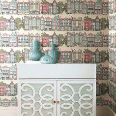Brownstone Terrace Wallpaper. Ashford Toiles. Sure Strip Stripped Wallpaper, Ashford House, Amazing