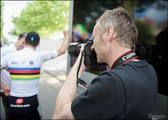 SKY photographer Scott Mitchell at work by kristof ramon, via Flickr. Tour de France 2012 - sstage 2