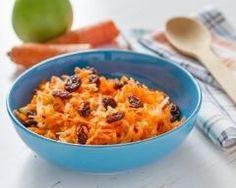 Salade de carottes râpées aux raisins secs à l'huile essentielle de citron