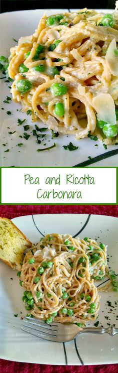 Creamy ricotta is added to the egg mixture; making this Pea and Ricotta Carbonara extra creamy and tasty.