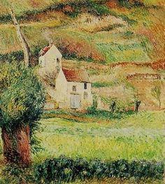 """Camille Pissarro (1830-1903) ~ """"Pontoise, La Côte du Chou"""", 1882 (Détail) ~ Huile sur Toile ~ Collection Privée"""