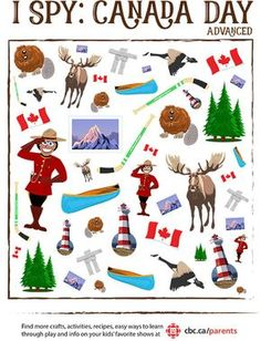Day I Spy Game Print a perfect little boredom buster to get the kids in the spirit of Canada Day!Print a perfect little boredom buster to get the kids in the spirit of Canada Day! Canada For Kids, Canada Day 150, Canada Canada, Happy Canada Day, Toronto Canada, Canadian Symbols, Canadian History, Canadian Culture, Canadian Memes