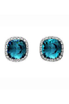 Swarovski Earrings in Blue. | elfsacks