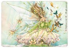 Carte postale - La fée du Printemps - Illustration Delphine GACHE