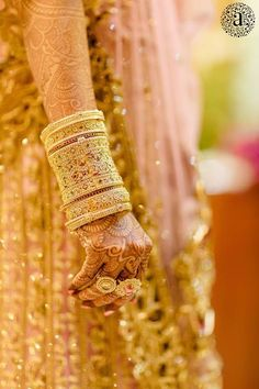 Talk about a gold wedding! This Indian bride really wears it well!