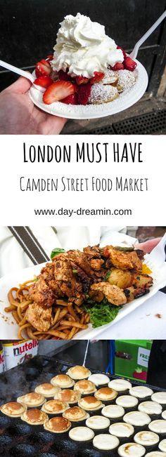 Must Have bei deinem nächsten London Besuch? Eindeutig der Camden Market mit leckerem Essen und tollen Shoppingmöglichkeiten