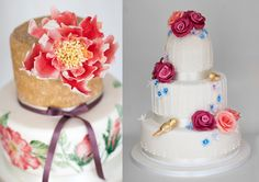 Peony & Birdcage - Liggy's Cake Company #weddingcake