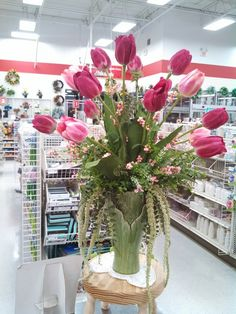 Spring tulip floral arrangement at Michaels