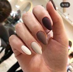 Decorated Nails: This is the manicure you do in this he .- Decorated Nails: This Is The Manicure You Will Wear This Fall Fashion - Cute Acrylic Nails, Matte Nails, Stiletto Nails, Glitter Nails, Uñas Color Cafe, Hair And Nails, My Nails, Almond Nail Art, Almond Nails