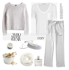 """Cozy Movie Marathon"" by rever-de-paris ❤ liked on Polyvore featuring MTWTFSS Weekday, Byredo, T By Alexander Wang, Aéropostale, Giuseppe Zanotti, Anja, UGG Australia, Sole Society, contest and cozy"
