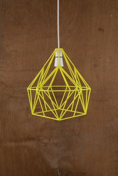 Flora Yellow Wire Lampshade
