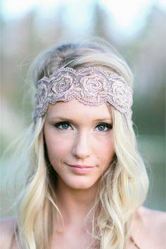 Bohemian bridal headpiece / Sara Logan Photography