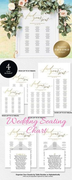 Terrific Idea and alternative to tent cards on the tables!  Wedding Seating Chart.  Wedding Seating Printable. #affiliate