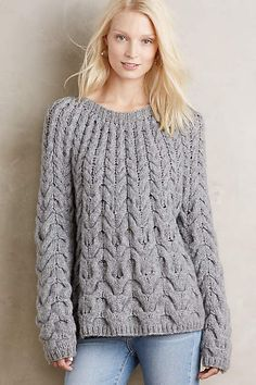 Waved Cables Pullover - anthropologie.com