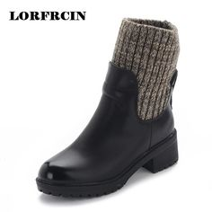 37.79$  Watch here - http://ali5pt.shopchina.info/go.php?t=32779404905 - Winter Boots Women High Heel Boots Brand Winter Women Shoes Warm Fashion Two Ways Wear Platform Ankle Boots 37.79$ #aliexpress