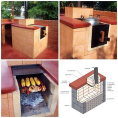 DIY all-in-one outdoor grill, oven, stove, and smoker.