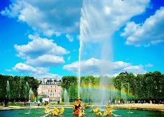 Ogród, Wersal, Paryż, Francja, Fontanna