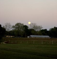 Spring moon over Watterberry farm