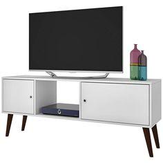Varberg White Wood 2-Door TV Stand - #9X342   Lamps Plus