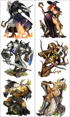 The anusual images of Dragons Crown.