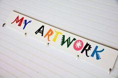 Playroom decor - Artwork Display one per kid.