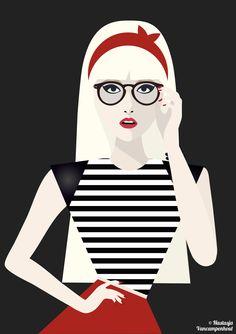 Illustration - Autoportrait - Illustrator - © Nastasja Vancampenhout