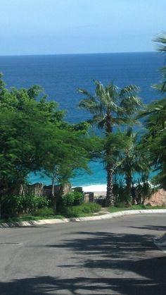Road to the ocean. Los Cabos Mexico