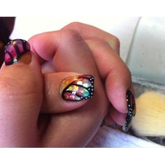 Butterfly nails!! amazing!  Loveee! <3