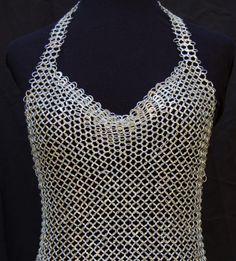 Sterling Chainmail Halter Top by bcyrjewelry on Etsy from BethCyr on Etsy. Saved to Tacky and just yuk. Chainmaille, Blusas Top, Victoria's Secret, Recycled Fashion, Sonia Delaunay, Bra Tops, Body Jewelry, Chain Jewelry, Jewlery