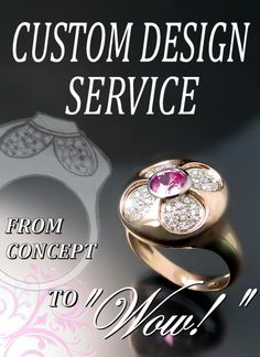 Custom jewellery design from sketches to complete ring Zoran