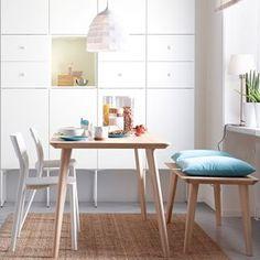 God design er mer enn det du ser. Møt LISABO, et slitesterkt bord med flate i askefiner og ben i massiv bjørk. Designen gir en varm, naturlig følelse til rommet ditt. #LISABO #bord #IKEAnyhet #nyhet #benk #JANINGE #stol #METOD #kjøkken #KVARTÄR #taklampe #IKEA #IKEAinspirasjon #kjøkken #spiseplass #interiør #interiørdesign #interiørinspirasjon #GodDesignErMerEnnDetDuSer