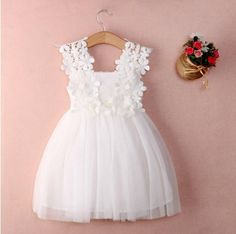 Cute V Neck Tulle Ivory Mini Flower Girl Dresses, Weding Cheap Little - Dairy Bridal