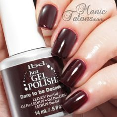 IBD Just Gel Dare to be Decadent Swatch from the Haute Frost Collection #IBDJustGel #GelPolish #soakoffgel