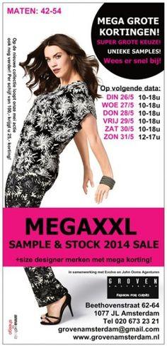 Mega xxl +size sample & stock sale -- Amsterdam -- 26/05-31/05