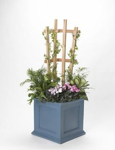 how to make a trellis for potted plants