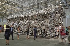 Installation view of Subodh Gupta, Cooking the World, presented by Continua and Hauser & Wirth at Art Basel Unlimited, Rules Of Composition, Zebra Art, Found Art, Basel, French Artists, Art World, Installation Art, Modern Art, Abstract Art