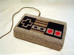 I am so glad I'm learning how to do plastic canvas!   nintendo controller ds lite case w/ mini tutorial - NEEDLEWORK