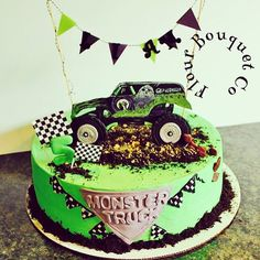 Monster Truck Birthday Party Ideas Cake Style 69 Ideas For 2019 Monster Jam Cake, Monster Truck Birthday Cake, Monster Truck Party, Cake Birthday, 5th Birthday, Birthday Ideas, Monster Trucks, Monster Truck Cakes, Digger Birthday Parties